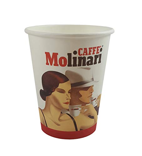 Caffè Molinari Coffee to go Becher/Kaffeebecher, 50 Stück, 278 ml