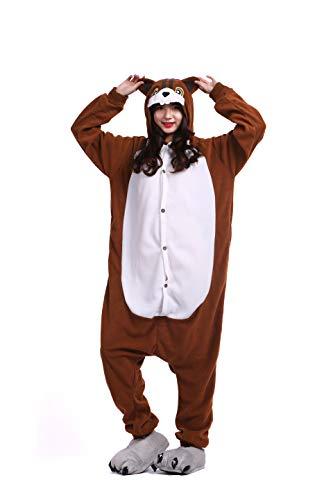 Pyjama Tier Cosplay Eichhörnchen Cartoonstil Animal Kigurumi Plüsch für Erwachsene Unisex