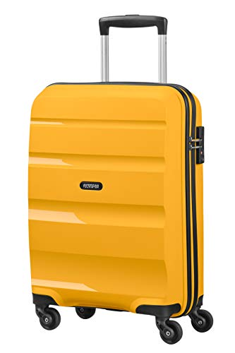 American Tourister Bon Air, Spinner Small Strict Bagaglio a Mano, 55 cm, 31.5 liters, Giallo (Light Yellow)