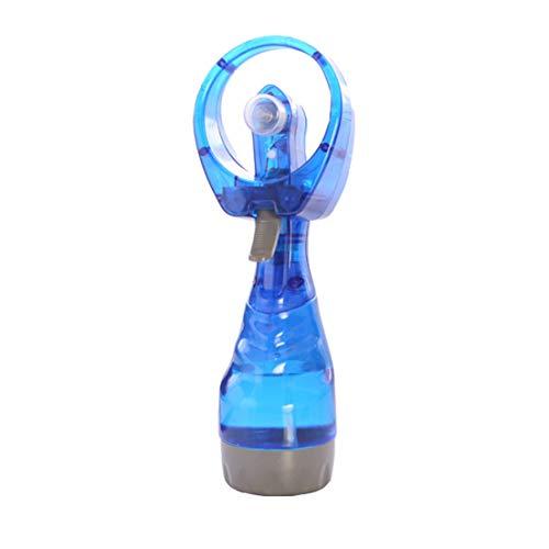 Mini Ventilatore spray/Ventilatore a getto d'acqua Ventola di raffreddamento Ventilatore ad acqua nebulizzata manuale Batteria Nebulizzatore Negozio Bottiglia Estate Repellente blu