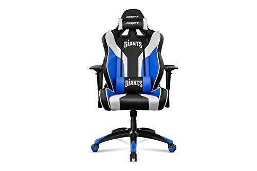 Drift Giants - DRGIANTS - Silla Gaming, Color Negro, Azul y Blanco