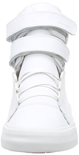 Supra Society Ii, Sneakers Hautes mixte adulte Blanc (WHITE / WHITE - RED WWR)