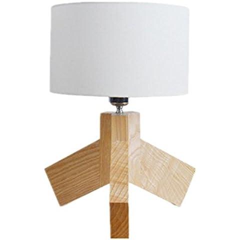 E27 a tre gambe piccolo Desk Lamp in legno camera