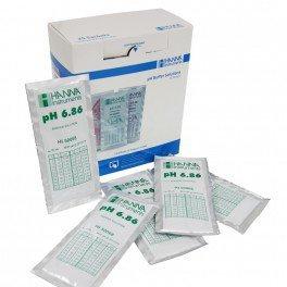 Boite de 25 sachets étalonnage pH 6.86-25x20ml + certificat - Hanna