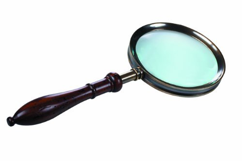 Authentic Models Regency Handheld Magnifying Glass in Brass and Rosewood by Authentic Models - Regency Bürobedarf