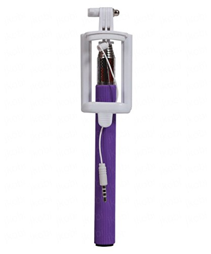 JusPic8 AUX Selfie Stick/Rod Expandable upto 29 Inches Compatible For RAGE Gre Mobile Phone - Purple  available at amazon for Rs.219
