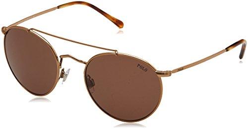 Polo Ralph Lauren Herren 0Ph3114 933473 51 Sonnenbrille, Gold (Rose/Brown)