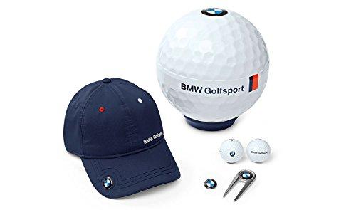 BMW EXKLUSIVES GOLFSPORT GESCHENKSET GESCHENBOX 80232446383 CAP GOLFBALL PITCHGABEL BALLMARKER