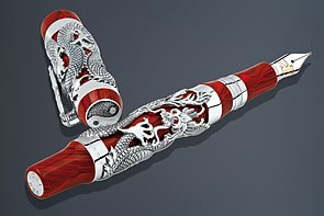 stylo-roller-montegrappa-bruce-lee-dragon-argent