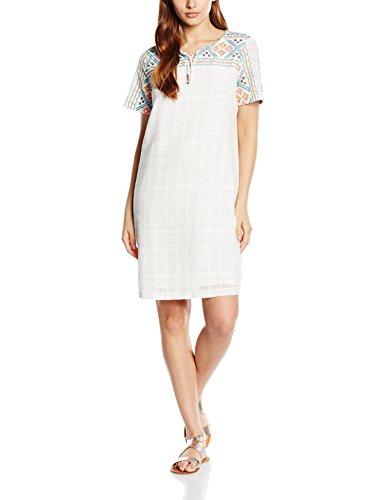 Esprit Mit Stickerei, Robe Femme Multicolore (WHITE 100)
