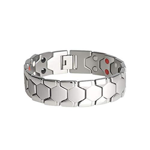 Pangyan990 Titan Magnetarmband, Natürliche Schmerzlinderung Einstellbare Therapie Armreif Für Männer Balance Magnete Armband Für Arthritis Und Karpaltunnel