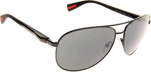 Prada Linea Rossa 51o Black / Grey Metallgestell Sonnenbrillen