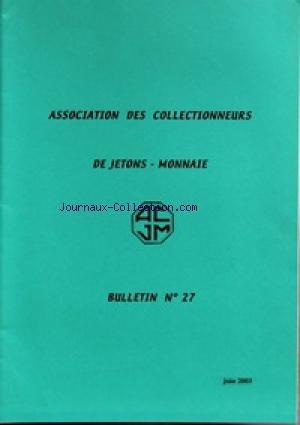 ACJM [No 27] du 01/06/2003 - ASSOCIATION...