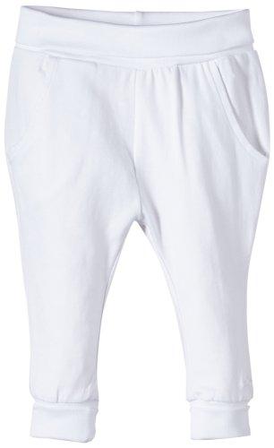 Noppies Unisex - Baby Hose U Pants Jersey Reg Humpie, Einfarbig, Gr. Neugeborene (Herstellergröße: 56), Weiß