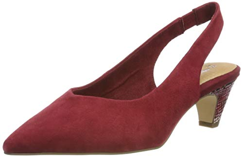 Tamaris Damen 1-1-29506-32 Slingback Pumps, Rot (Bordeaux 667), 39 EU Schuhe Slingbacks