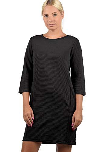 ONLY Swane Damen Sweatkleid Sommerkleid Kleid Mit Rundhals, Größe:S, Farbe:Black