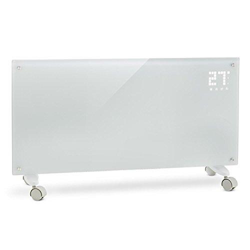 Klarstein Bornholm - Riscaldamento elettrico, Radiatore in vetro a convezione, 2000 W,...