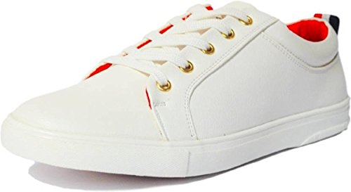 Scion Men's Vogue White Red Casual Sneaker Shoes
