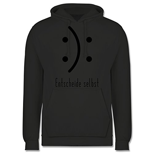 Symbole - Entscheide selbst Smile - Männer Premium Kapuzenpullover / Hoodie Dunkelgrau