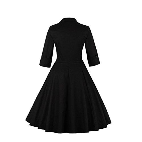 Dissa M1323 femme Rockabilly Robe de Soiré cocktail Robe de Bal Retro Papillon noir