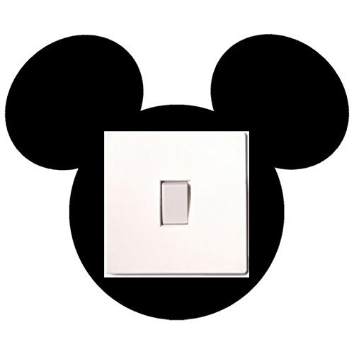 Image of Mickey Mouse Light Switch Sticker Children's Bedroom Playroom Fun Adhesive Vinyl