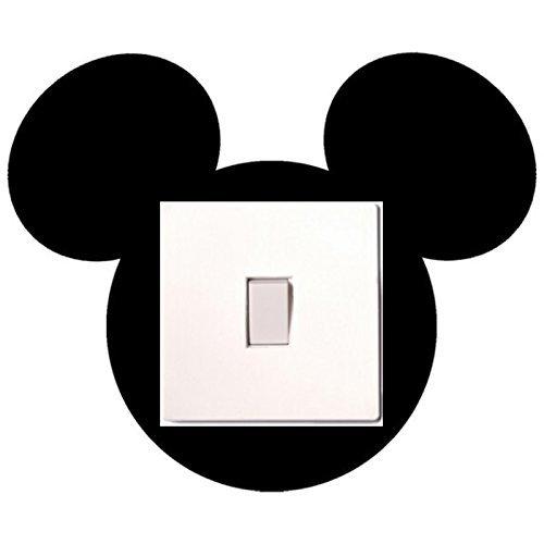 lichtschalter aufkleber mickey maus f r kinder. Black Bedroom Furniture Sets. Home Design Ideas