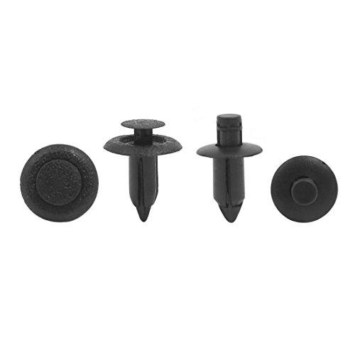 Sourcingmap 20 Pcs Plastique Noir Pare-Chocs Attachés Clips 6Mm 7Mm Trou Rivets
