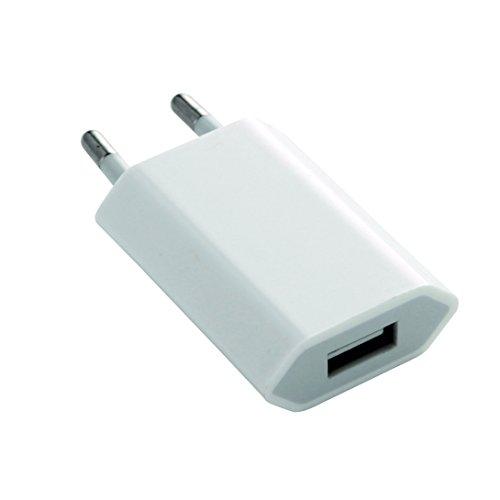 Preisvergleich Produktbild USB Stromadapter, Netzteil, Ladegerät 5V - 1A, für iPhone 4 4G 3 3G 5 5C 5S, ipod, mp3, samsung, motorola - WEISS