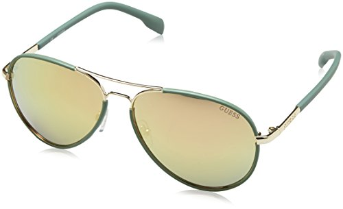 Guess Unisex-Erwachsene GF026132G59 Sonnenbrille, Grün, 52