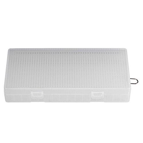 Zerone 18650batterie case/Holder/organizer/Storage, Portable trasparente lotto di 8batteria Storage box con gancio