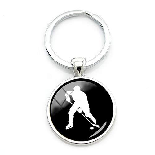 Schlüsselanhänger Hockey Eishockey Spieler Cabochon Torwart Wayne Gretzky NHL -