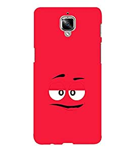 EPICCASE Red eyes cartoon Mobile Back Case Cover For OnePlus Three (Designer Case)