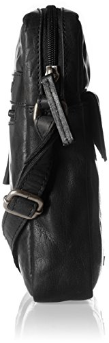 Spikes & Sparrow - Crossover Bag, Borse a tracolla Donna Nero (Black)