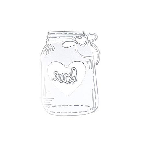 Lumanuby 1pc Botella de leche amorosa Troqueles para álbumes de recortes Dies Cortar DIY Scrapbooking Plantillas Estarcir Gofrado Troquelado Kit en Relieve Grabado