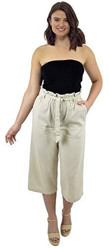 CityComfort Damen Papiertasche Taille 3/4 Hose (52, Stein)