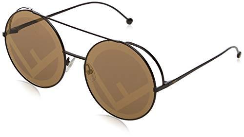 Fendi Damen FF 0285/S EB 09Q 63 Sonnenbrille, Braun Bw Black Brown