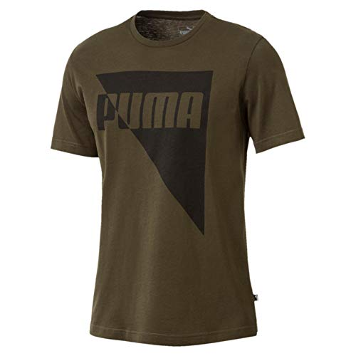 Puma Brand Graphic T-Shirt Homme, Forest Night, FR : M (Taille Fabricant : M)