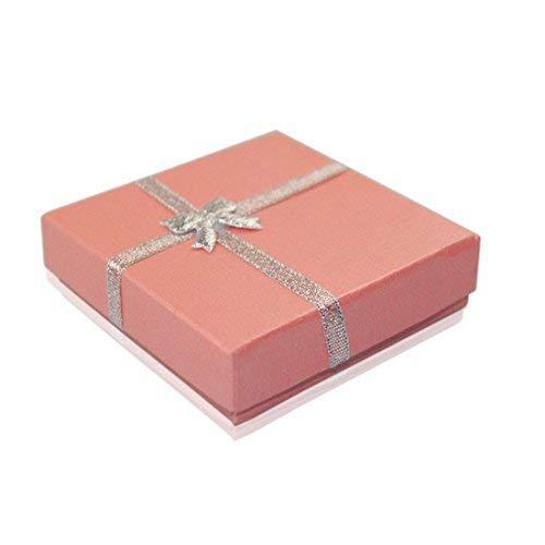 Warehouseshop WSS - klein luxuriös Schmuck Geschenkboxen Box für Anhänger Armband Ohrring Halskette Ring Shop Heim Geburtstag Weihnachten Geschenke 5.5cm x 5.5cm x 2cm - Rosa (Und Geschenk-box Armband Ring)