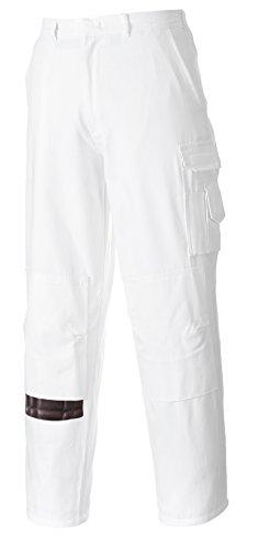 Portwest S817 - Pantaloni Da Lavoro Imbianchino, Colore Bianco, Taglia XS