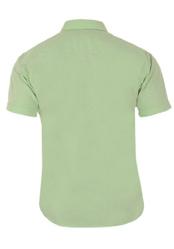 Camisa Adans Mostaza Oxfor Manga Corta de Selected Verde