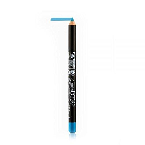 Mica Vitamine (PUROBIO - Eyeliner n. 42 - Hellblau - Textur Weich, Taken Präzise, Leicht zu Mischen - mit Vitamin E)