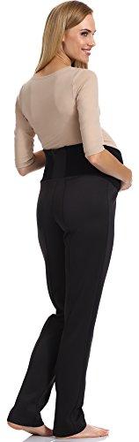 Be Mammy Pantalon de Maternité Femme GX208 Noir