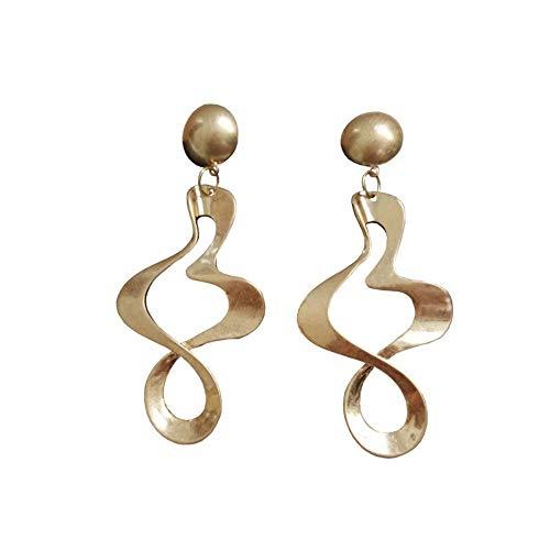 Escyq orecchiniabottoneorecchinipendentilineadell'orecchio esagerato orecchini eardrop moda offerte in metallo a forma di orecchini fare donne lega gioielli orecchini a spirale
