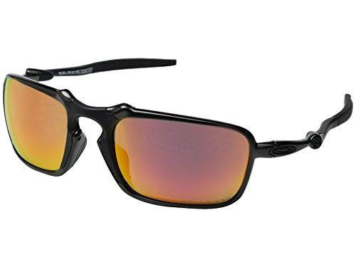 Oakley Herren Badman 602003 Sonnenbrille, Schwarz (Dark Carbon), 60