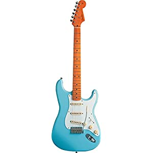 Fender 0131002304 Classic Series '50s Stratocaster Maple Fingerboard Electric Guitar – Daphne Blue-P