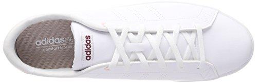 Adidas Damen Advantage Cl Qt W Fitnessschuhe Elfenbein (ftwr Bianco / Mistero Rubino F17)