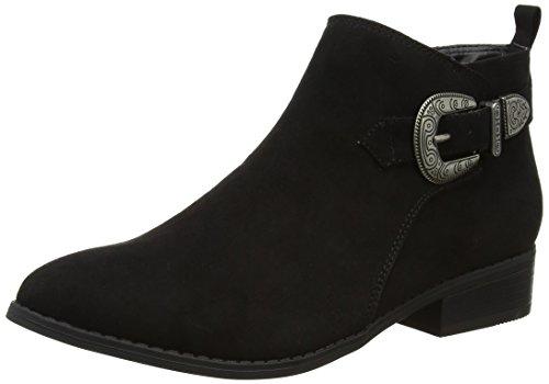 dorothy-perkins-mary-western-buckle-bottes-chelsea-femme-noir-noir-noir-395