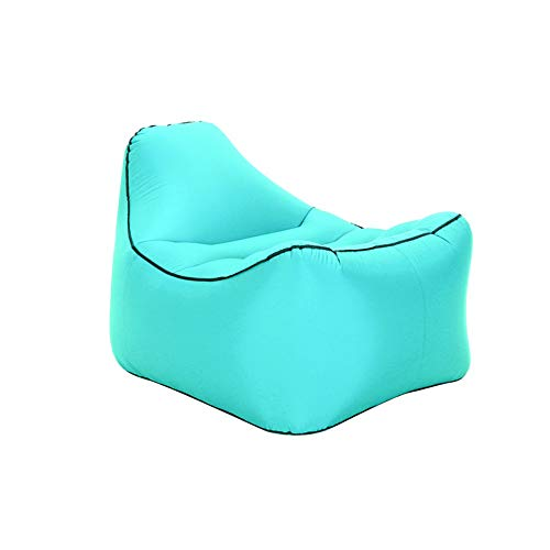 BUUYEJI Inflatable Lounger with Carrying Bag & Pockets for Indoors/Outdoors - Blow up Couch & Inflatable Sofa with Headrest & Securi - Home-securi