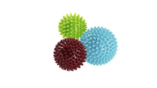 Igelball Massageball 3er Set / Pack von 3 - Bälle Stress Reflexologie - 6,8 cm, 7 cm, 9 cm - Myofaszialer Ball, Gymnastikball, Lacrosse Ball Umweltfreundliche, Kunststoff, Pak und Phthalate frei