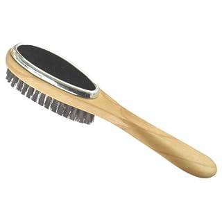 H & L Russel Triple Clothes Brush, Beech with Black Bristles, 27 cm
